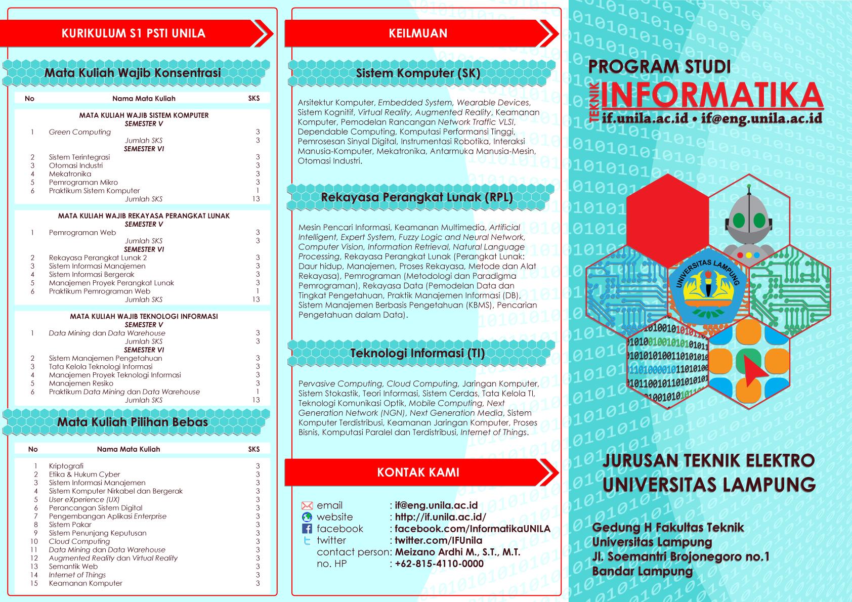 leaflet prodi ti  u2013 teknik informatika universitas lampung