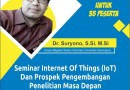 Dosen PSTI Mengikuti Kegiatan Seminar Internet of Things (IoT) dan Prospek Pengembangan Penelitian Masa Depan yang Diselenggarakan Aptikom Lampung