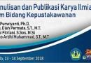 Dosen PSTI Menjadi Narasumber Kegiatan Pelatihan Penulisan dan Publikasi Karya Ilmiah dalam Bidang Kepustakawan