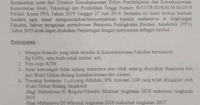Informasi Beasiswa PPA 2019 Universitas Lampung