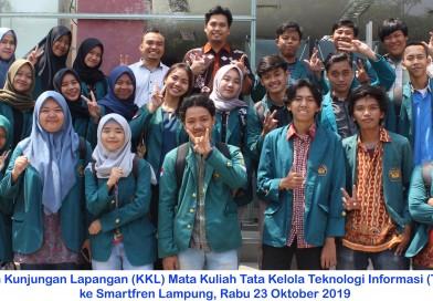 Kuliah Kunjungan Lapangan (KKL) Mata Kuliah Tata Kelola Teknologi Informasi (TKTI) ke Smartfren Lampung