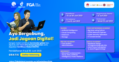 Pembukaan Pendaftaran Fresh Graduate Academy (FGA) Digital Talent Scholarship (DTS) 2021